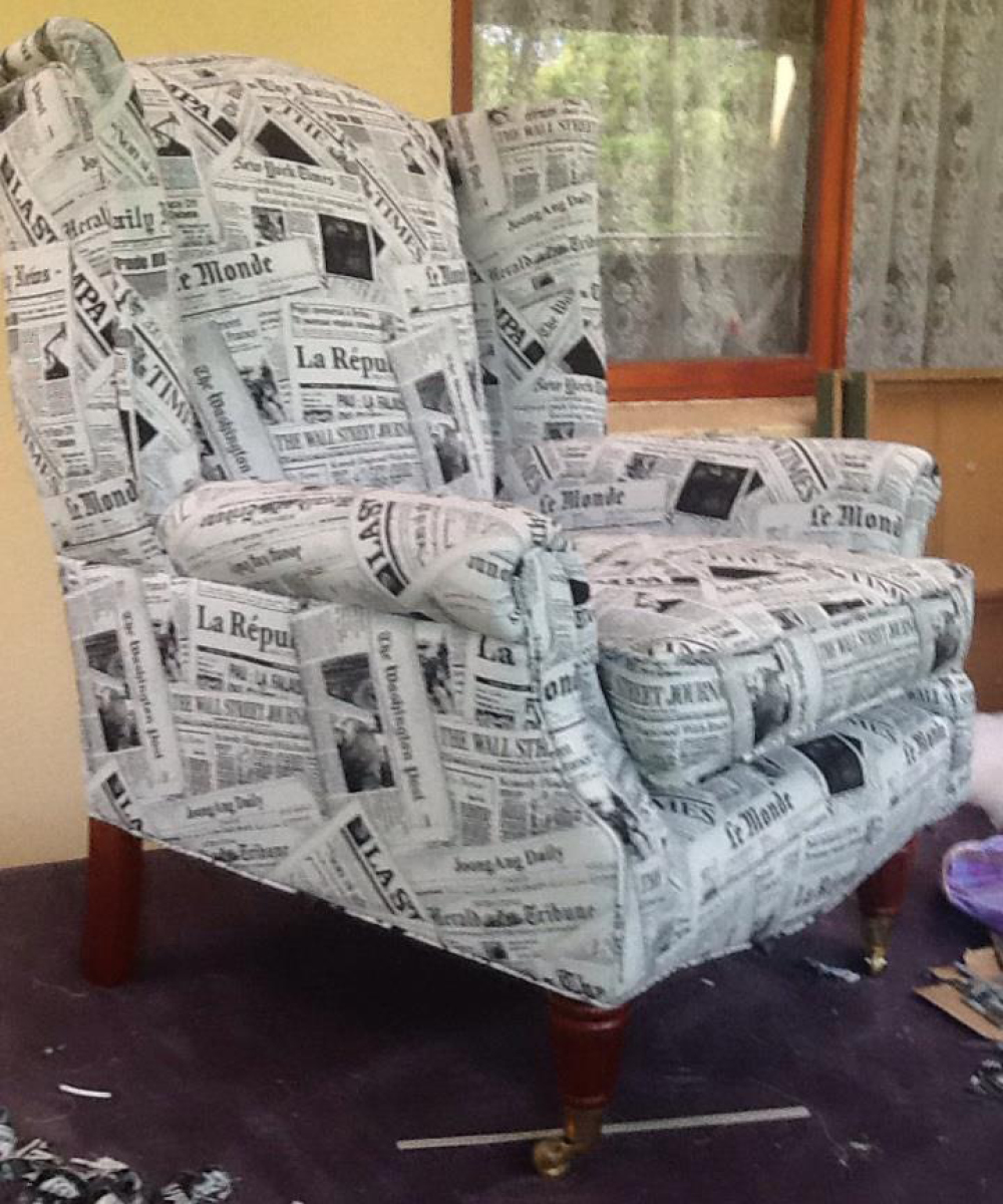 Wingchair for interior design project tdu for Newspaper articles on interior design